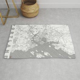 Portland Maine Map Line Rug
