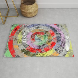 Textured Bullseye - Abstract, marble, pastel colours Rug