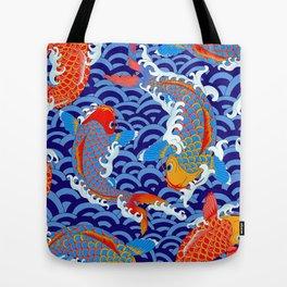 Koi fish / japanese tattoo style pattern Tote Bag