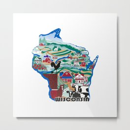 Wisconsin Country Sampler Metal Print