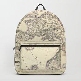 Vintage Map - Spruner-Menke Handatlas (1880) - 07 Religious Domains in the Middle Ages Backpack