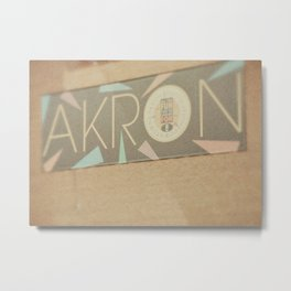 Downtown Akron - Fine Art Print Metal Print