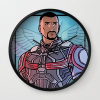 falcon Wall Clocks featuring Falcon by DeanDraws