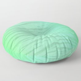 Abstract Pattern In Green Washed Out Iridescent Color Floor Pillow