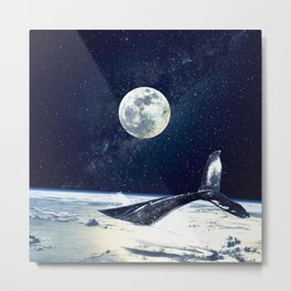 Stay in Space Metal Print