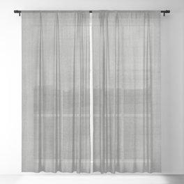 Pantone Pewter Dry Brush Strokes Texture Pattern Sheer Curtain
