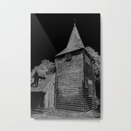 Greensted Church Art Metal Print