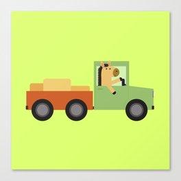 Horse on Truck Canvas Print