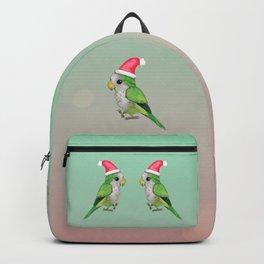 Green Christmas parrot Backpack