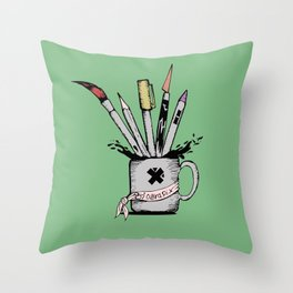 Ink cup Throw Pillow