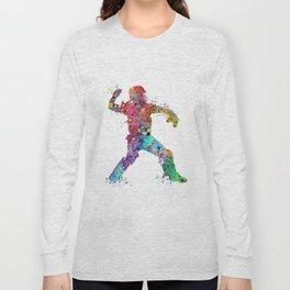 Baseball Softball Catcher 3 Art Sports Poster Long Sleeve T-shirt