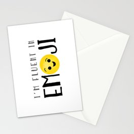 I'm Fluent In Emoji Stationery Cards