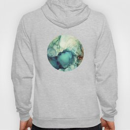 Teal Abstract Hoody