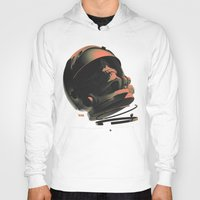 noir Hoodies featuring Space Skull Noir by Alex DiMella