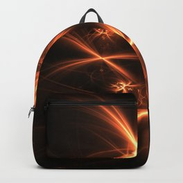 Orange abstract fractal as firework. Holiday theme. Backpack