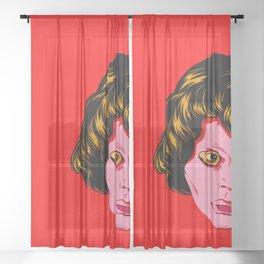 Les Yeux sans Visage Sheer Curtain