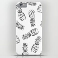 Pineapples Black and White iPhone 6s Plus Slim Case