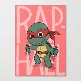 TMNT: Raphael (Cute & Dangerous) Canvas Print