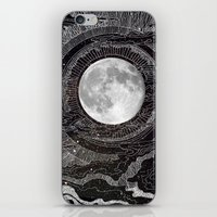 lights iPhone & iPod Skins featuring Moon Glow by brenda erickson