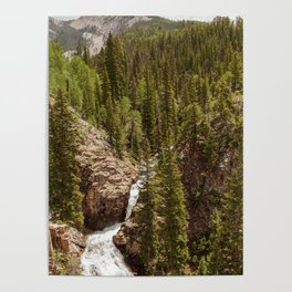 Judd Falls in Crested Butte, Colorado Poster