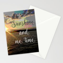 Sunshine and Me Time Stationery Cards