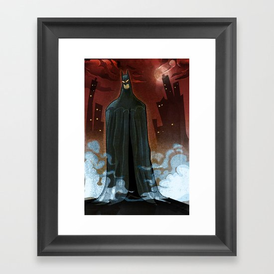 BTMAN Framed Art Print
