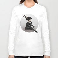 ruben Long Sleeve T-shirts featuring Here Before by Ruben Ireland