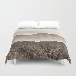 The mountain beyond the forest Duvet Cover