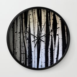 Birch Trees Wall Clock