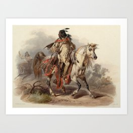Blackfoot warrior by Karl Bodmer Art Print