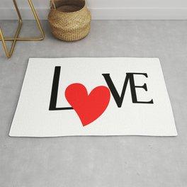 Red heart love valentine Rug