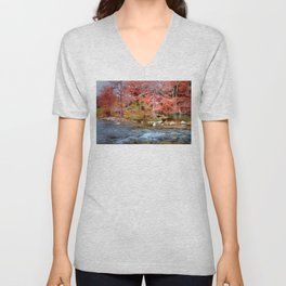 Fall Along the Guadalupe Unisex V-Neck