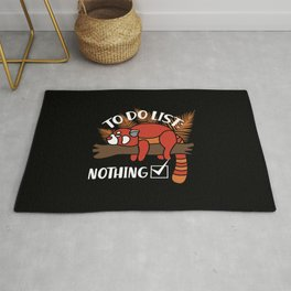 Red Panda Gift: To Do List - Nothing! I Raccoon Rug