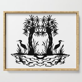 Lowcountry Herons - Papercut Silhouette Scherenschnitte Serving Tray
