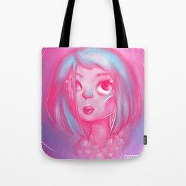 Pink Lady Pearls Tote Bag