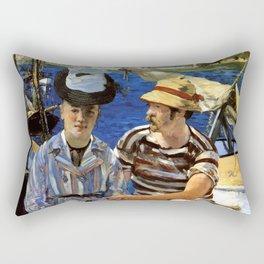 "Édouard Manet ""Argenteuil"" Rectangular Pillow"