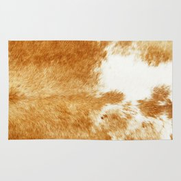 Golden Brown Cow Hide Rug