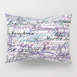 All The Presidents Signatures Blue Rose Pillow Sham