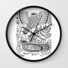 Ancient Birds Wall Clock