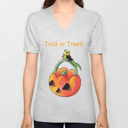 Green Trick or Keet (With Text) Unisex V-Neck