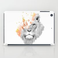 king iPad Cases featuring If I roar (The King Lion) by Picomodi