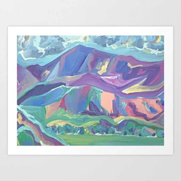 Mt Diablo From Concord Bart Art Print
