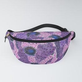 Cacti Camouflage, Pink, Black and Violet Fanny Pack