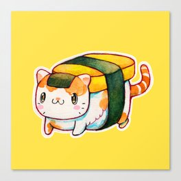 Sushi Cat Canvas Print