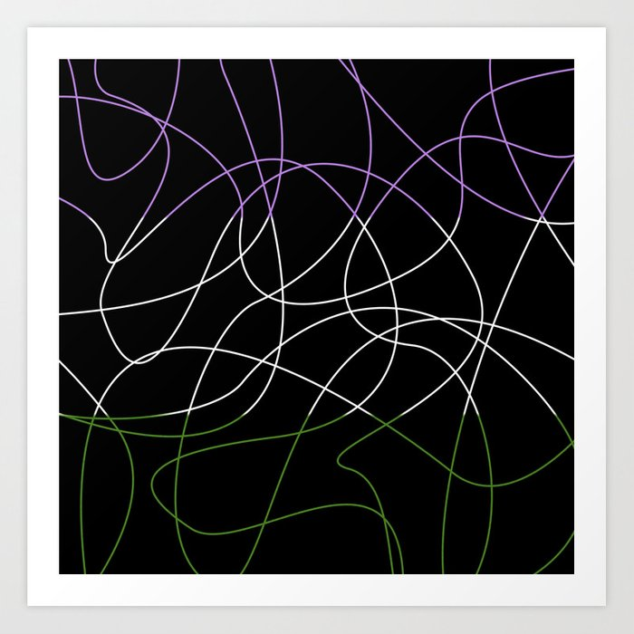 Abstract Threads – Genderqueer Pride Flag Art Print