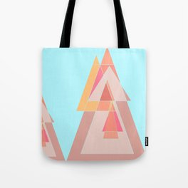 Abstract geometric landscape Tote Bag
