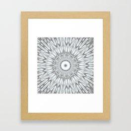 Gray Kaleidoscope Framed Art Print
