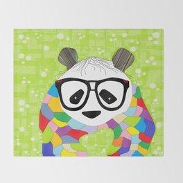 Hipster Panda Throw Blanket