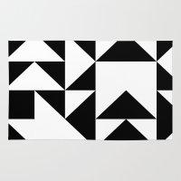 yin yang Area & Throw Rugs featuring Yin Yang by Jar Lean