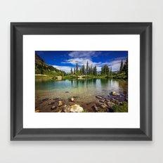 Mountain Lake in the Mt Rainier National Park Framed Art Print